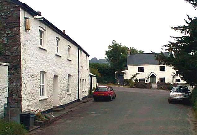 Houses near Llanelly parish church.