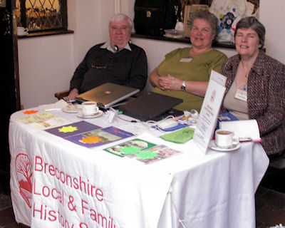 Hilary Williams and Eirwen Jones manned our stall, assisted by BLFHS member David James.