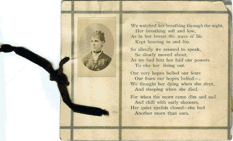 Elizabeth James Memorial Card Part 2
