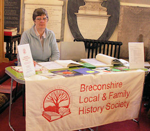 Eirwen Jones at the BLFHS Stall