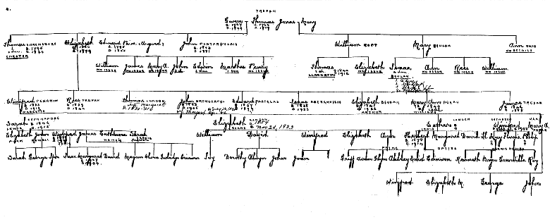 Descendant Chart, Jones of Trefan
